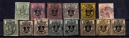 Hanovre Belle Collection De 14 Classiques Oblitérés 1851/1856. Bonnes Valeurs. B/TB. A Saisir! - Hanovre
