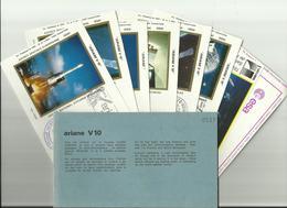 Lancement Fusée ARIANE V10 - 04/08/1984 - Pochette Lancement CNES - 9 Documents - CENTRE SPATIAL GUYANAIS - ESPACE - Europa