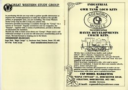 Catalogue AGENORIA MODELS 2001 Gauge 7mm 1/43 O  4mm 1/76 OO Kits Locomotive - Boeken En Tijdschriften