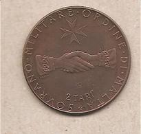 SMOM - Moneta FDS Da 2 Tarì: Fao - 1968 PROVA - Malte (Ordre De)