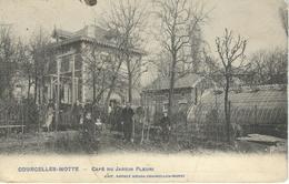 COURCELLES-MOTTE : Café Du Jardin Fleuri - RARE CPA - - Courcelles