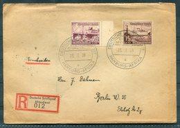 1936 DR Deutsche Hamburg Afrika USSUKUMA Ship Cover. Deutsche Schiffspost Afrikadienst Einschreiben. Berlin Antwerpen - Deutschland