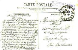MOULLEAU LE PIN GIGANTESQUE  ET BEAU CACHET HOPITAL TEMPORAIRE  D'ARCACHON  DATE 24/11/1914 - Marcophilie (Lettres)