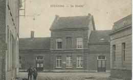 STEKENE : De Statie - Courrier De 1919 - Stekene