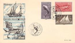 IFNI - FDC 1958 TOUR DU TIMBRE Mi #178-180 - Ifni