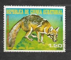 Equatorial  1977 North American Fauna Urocyon Cinereoargenteus Used CTO - Guinée Equatoriale