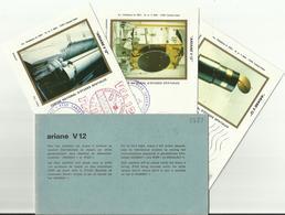 Lancement Fusée ARIANE V12 - 08/02/1985 - Pochette Lancement CNES - 4 Documents - CENTRE SPATIAL GUYANAIS - ESPACE - Europa