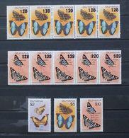 Butterflies Papillons Schmetterlinge Guyana Overprint AIDS / ** MNH - Butterflies
