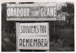 88Sv  Photo (18cm X 13cm) Oradour Sur Glane Plaque Indicatrice Qui En Dit Long Guerre 39/45 - Guerra 1939-45