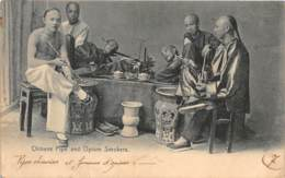 Chine / Belle Oblitération - 50 - Chinese Pipe And Opium Smokers - China