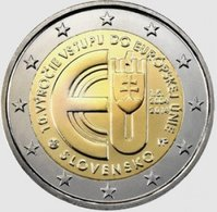 2 Euro UNC 2014 (10 Years Of Slovakian Membership In European Union) Km134 - Slovakia