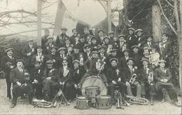 78 CPA Photo LIMAY Fanfare Circonscrit Classe De 1914 - Limay