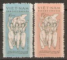 North Vietnam 1961 Mi# 152 Y-153 X (*) Mint No Gum - Vietnamese Women's Union, 3rd Natl. Congress - Vietnam