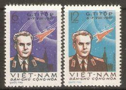 North Vietnam 1961 Mi# 181-182 (*) Mint No Gum - Gherman Titov's Space Flight - Vietnam