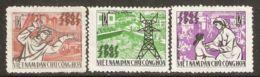 North Vietnam 1965 Mi# 394-396 (*) Mint No Gum, Hinged - Completion Of 1st Five-Year Plan - Vietnam