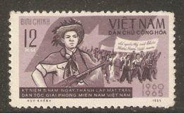 North Vietnam 1965 Mi# 423 (*) Mint No Gum - South Vietnam Natl. Liberation Front, 5th Anniv. - Vietnam