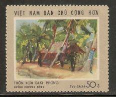 North Vietnam 1969 Mi# 580 (*) Mint No Gum - Short Set - Paintings / Liberated Hamlet - Vietnam