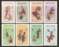 North Vietnam 1972 Mi# 709-716 (*) Mint No Gum - Tay Nguyen Folk Dances - Vietnam