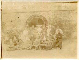 PHoto De Soldats Blessés De Divers Régiments Religieuses à La Cornette - Guerre, Militaire