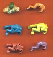 Serie Incomplète De 6/8 Feves Grenouilles Accroche Verre - Animals