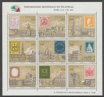 BLOC NEUF D'ITALIE - TIMBRES SUR TIMBRE (EXPO PHILATELIQUE MONDIALE DE ROME) Y &T N°1 - Timbres Sur Timbres