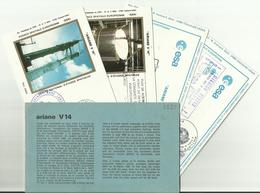 Lancement Fusée ARIANE V14 - 02/07/1985 - Pochette Lancement CNES - 5 Documents - CENTRE SPATIAL GUYANAIS - ESPACE - Europa