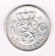 1 GULDEN  1957 NEDERLAND /7878/ - [ 3] 1815-… : Regno Dei Paesi Bassi