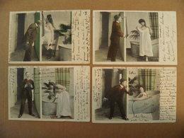 11/119-Erotique, Grivoise, Voyeur Et Femme Salle De Bain 1° Tirage  Voy 1903 - Pin-Ups