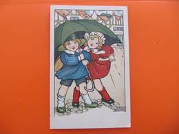 CPA -  Illustrateur : ANNE ANDERSON - ENFANTS SOUS UN PARAPLUIE - Autres Illustrateurs