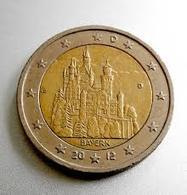 2 Euro UNC (Bayern/Neuschwanstein Castle) SERIA D - Slovaquie