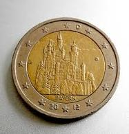 2 Euro UNC (Bayern/Neuschwanstein Castle) SERIA D - Slowakei