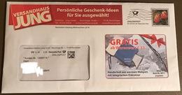 Dialogpost  DV 11 2018 0,35 Versandhaus Jung, 75196 Remchingen , Briefmarke Weihnachtskugeln Geschenkideen - BRD