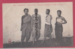 CAMBODGE--INDOCHINE---PNNOM-PENH---Femmes Se Rendant A La Fete Des Eaux - Cambodia