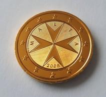 MALTE 2008 - 2 EUROS DE SERIE - PLAQUÉE OR - Malta