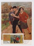 CARTE MAXIMUM CM Card USSR RUSSIA Student Children Johansson Art Painting - 1923-1991 UdSSR