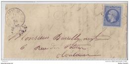 014. Frgt N°14  Bleu-lilas - De St Laurent De Neste (Hautes Pyrénées) - 1858 - Postmark Collection (Covers)