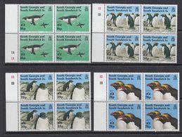 South Georgia 1993 Macaroni Penguins 4v Bl Of 4 ** Mnh (41319D) - Zuid-Georgia