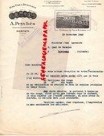 33-  PORTETS- RARE LETTRE A. PEYCHES- VINS CHATEAU LA TOUR BICHEAU- NEGOCIANT PROPRIETAIRE-1942 A JEAN LASSERRE BORDEAUX - Petits Métiers
