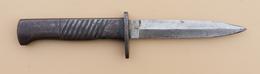 Rare Poignard Allemand Ersatz Ernst Busch Acier - Knives/Swords