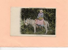 Carte Postale - Retour Du Marché A Travers La Campagne Normande - Donkeys
