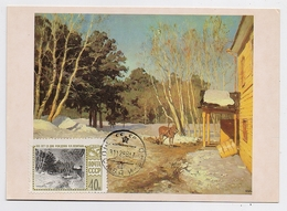 CARTE MAXIMUM CM Card USSR RUSSIA Art Painting Levitan Horse Spring - 1923-1991 USSR