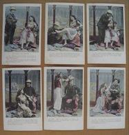 """11/122-Erotique, Grivoise, Seins Nus Série 6 Cpa """"Le Voyage De Suzette""""vers 1905 - Couples"""