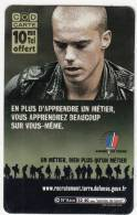 FRANCE - Armee De Terre, France Telecom Promotion Prepaid Card, Exp.date 10/11/05, Used - Army