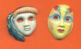 Serie Incomplète De 2/8 Feves Masques Venitiens 2009 - Regions