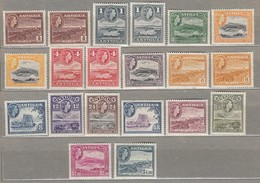 ANTIGUA 1953-1956 MNH/MVLH (**/*) Mi 101-115, SG1220-134 #23242 - Antigua & Barbuda (...-1981)