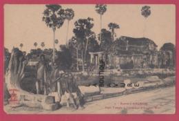 CAMBODGE--Ruines D'Angkor---Petit Temple A L'Exterieur D'Angkor-Wat---animé - Cambodia