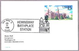 Lugar De Nacimiento De ERNEST HEMINGWAY - Hemingway Birthplace. Oak Park IL 1989 - Nobel Prize Laureates