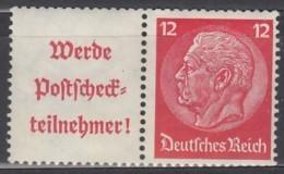 DR W 85, Postfrisch *, Hindenburg 1939 - Se-Tenant