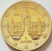 2 Euro UNC 2016 (Saxony/Sachsen: Zwinger Palace) Km347 SERIE D - Slovacchia