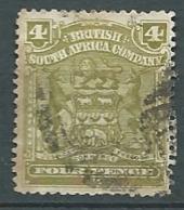 Compagnie Britannique De L'afrique Du Sud   Yvert N°62 Oblitéré  -  Ad 38103 - South Africa (...-1961)